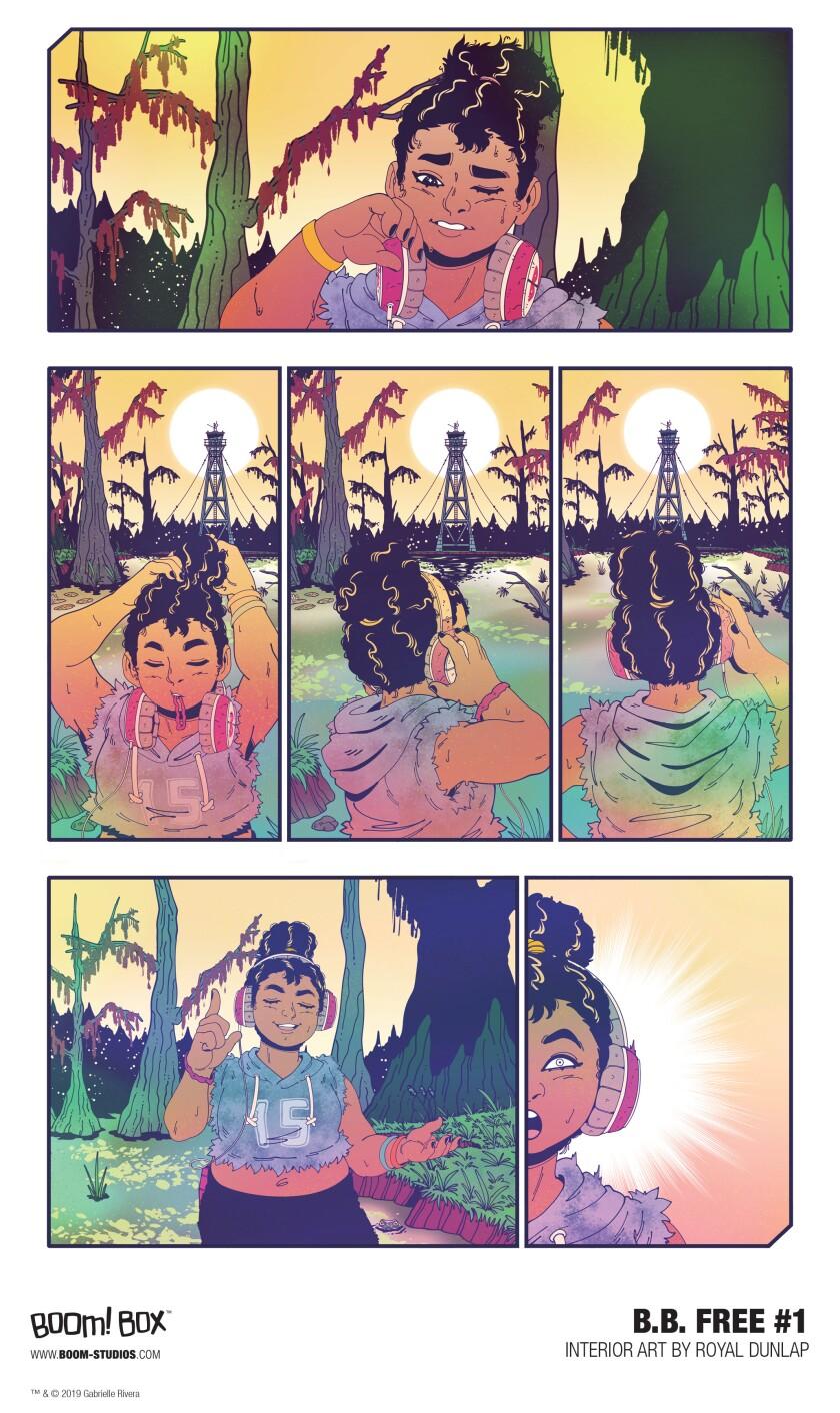 Interior art from b.b. free comic book series