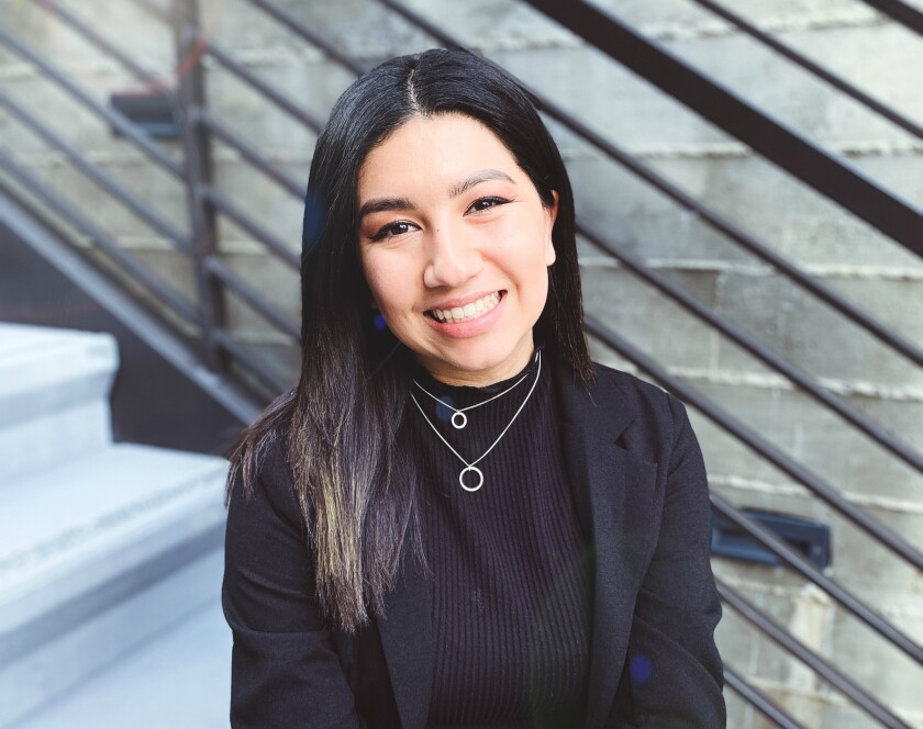 Amanda Fuentes, 23, is graduating from Chapman University and entering into the job market in the communications and marketing fields.