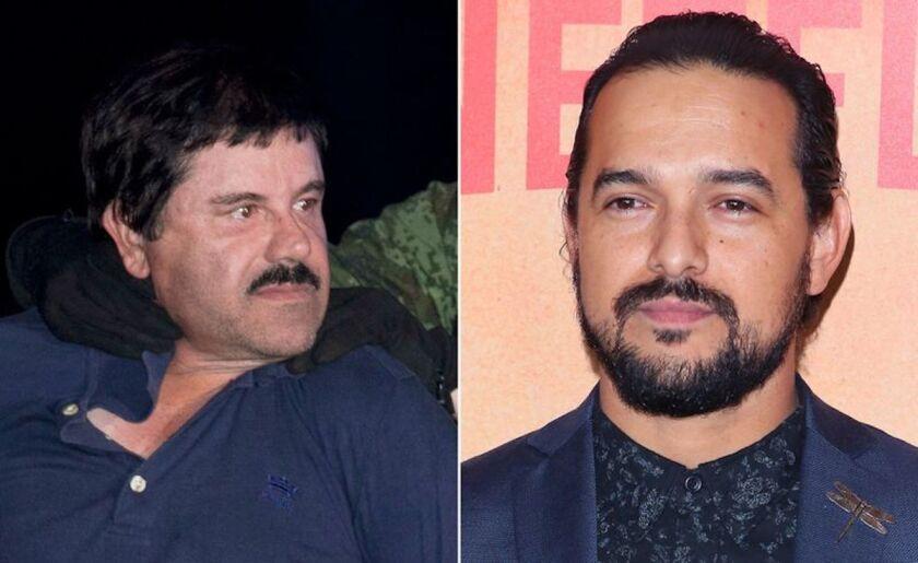'El Chapo' y 'El Chapo' de ficción, protagonizado por el actor mexicano Alejandro Edda.
