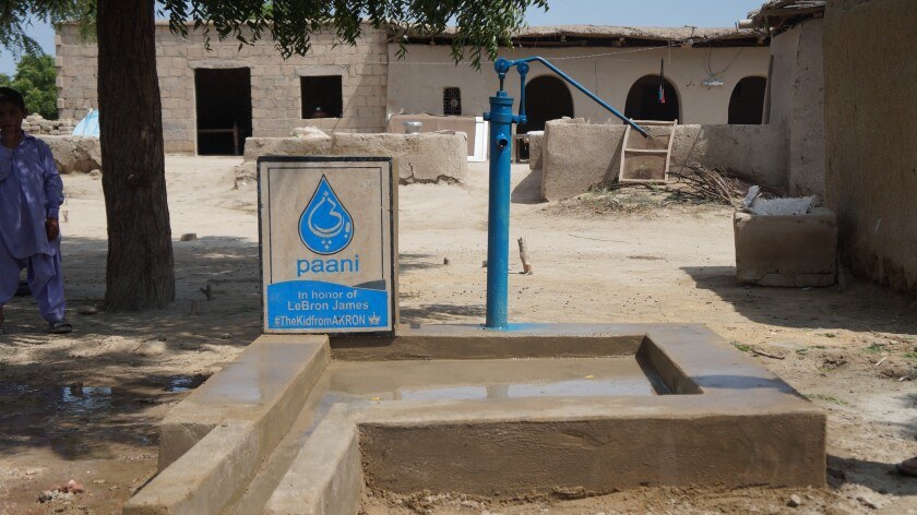 The dedicated well for LeBron James is located in the Mirpur Khas District of Sindh, Pakistan.