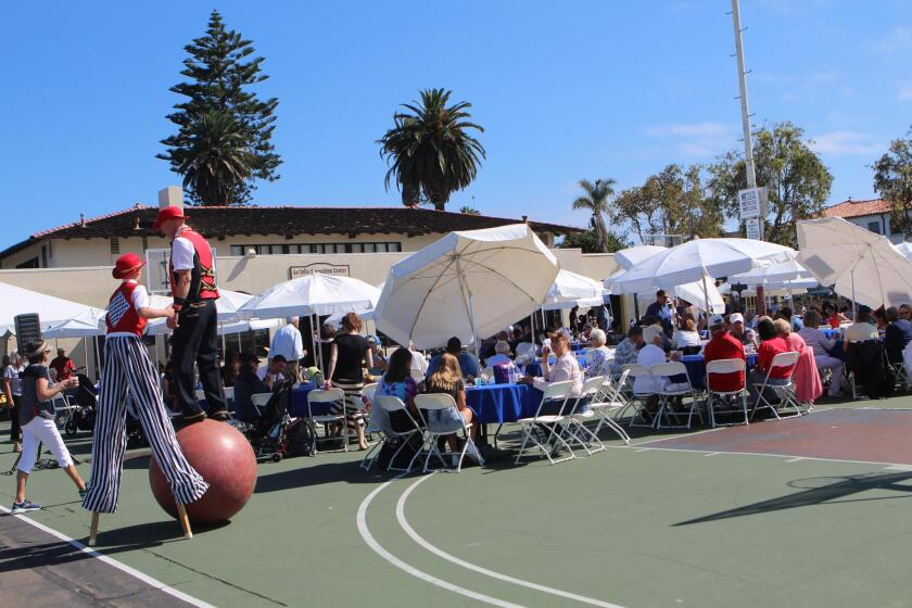 An estimated 400 people attended the 2019 Kiwanis event at La Jolla Recreation Center to raise funds for local schools, the Rec Center and YMCA, among other recipients.