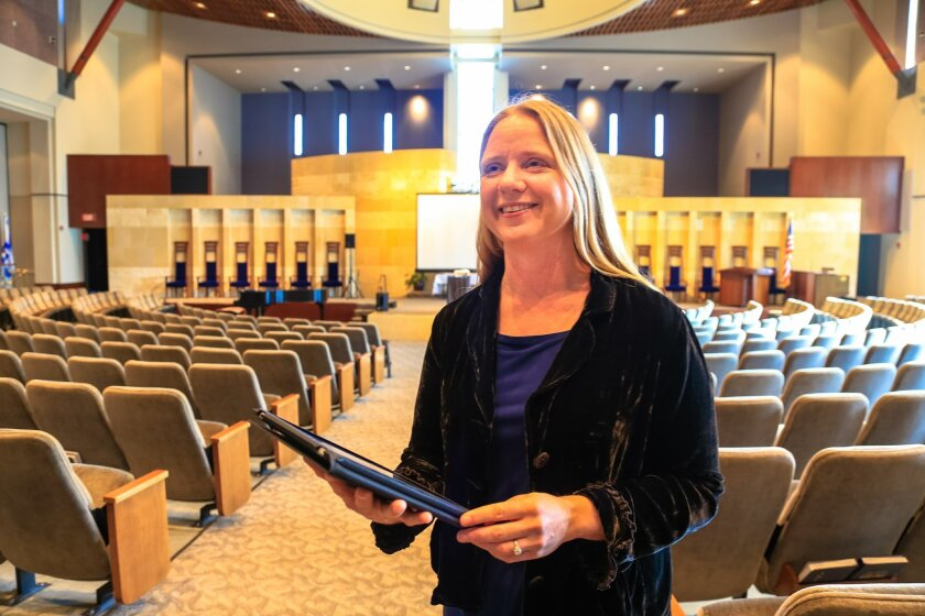 Liza Long visits Congregation Beth Israel in University City at the invitation of Jewish Family Service.