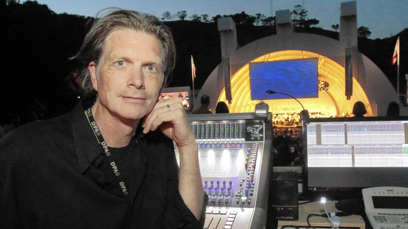 Fred Vogler, sound designer for the Los Angeles Philharmonic. at the Hollywood Bowl.