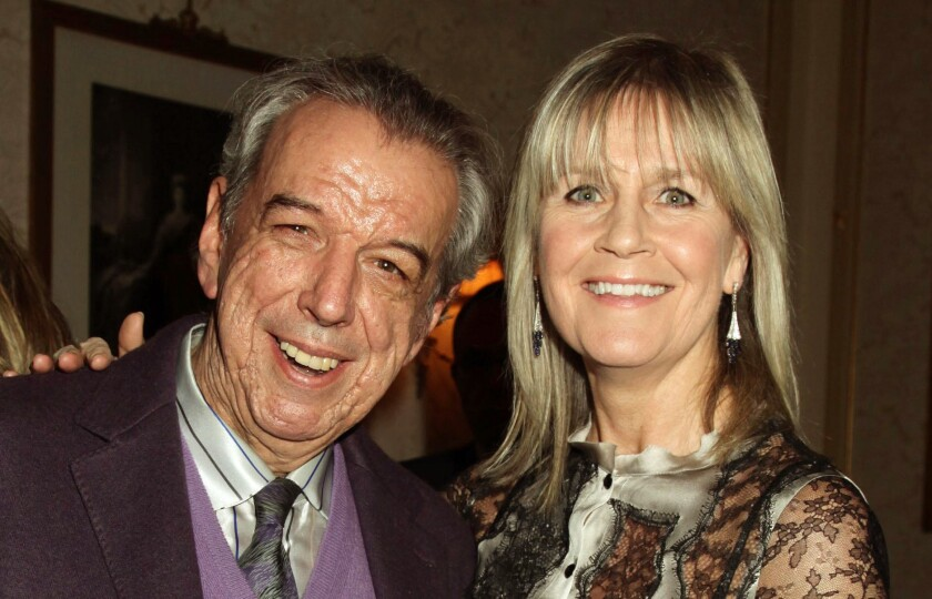 Songwriter Rod Temperton and his wife, Kathy, attend a Teenage Cancer Trust concert at Royal Albert Hall in London on March 29, 2012.