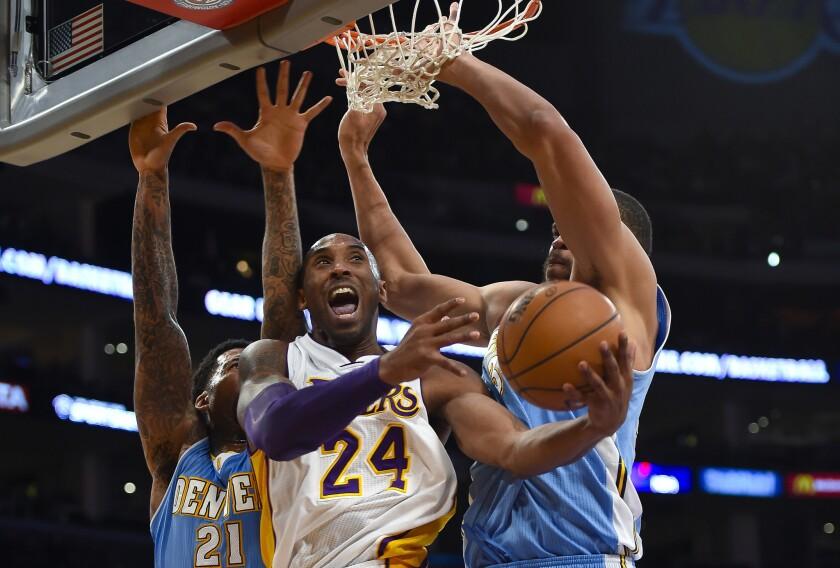 Kobe Bryant, Wilson Chandler, JaVale McGee