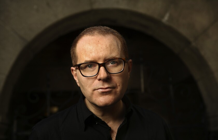 """Playwright Conor McPherson at the Geffen Playhouse in Los Angeles, where his new play, """"The Night Alive,"""" gets its West Coast premiere."""