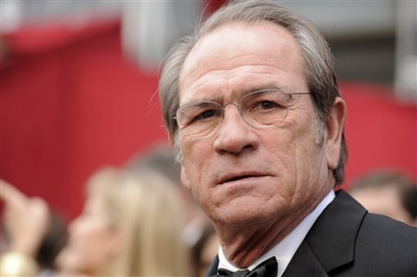 In this Feb. 24, 2008 file photo, Tommy Lee Jones arrives at the 80th Academy Awards at the Kodak Theatre in Los Angeles. (AP Photo/Kevork Djansezian, file)