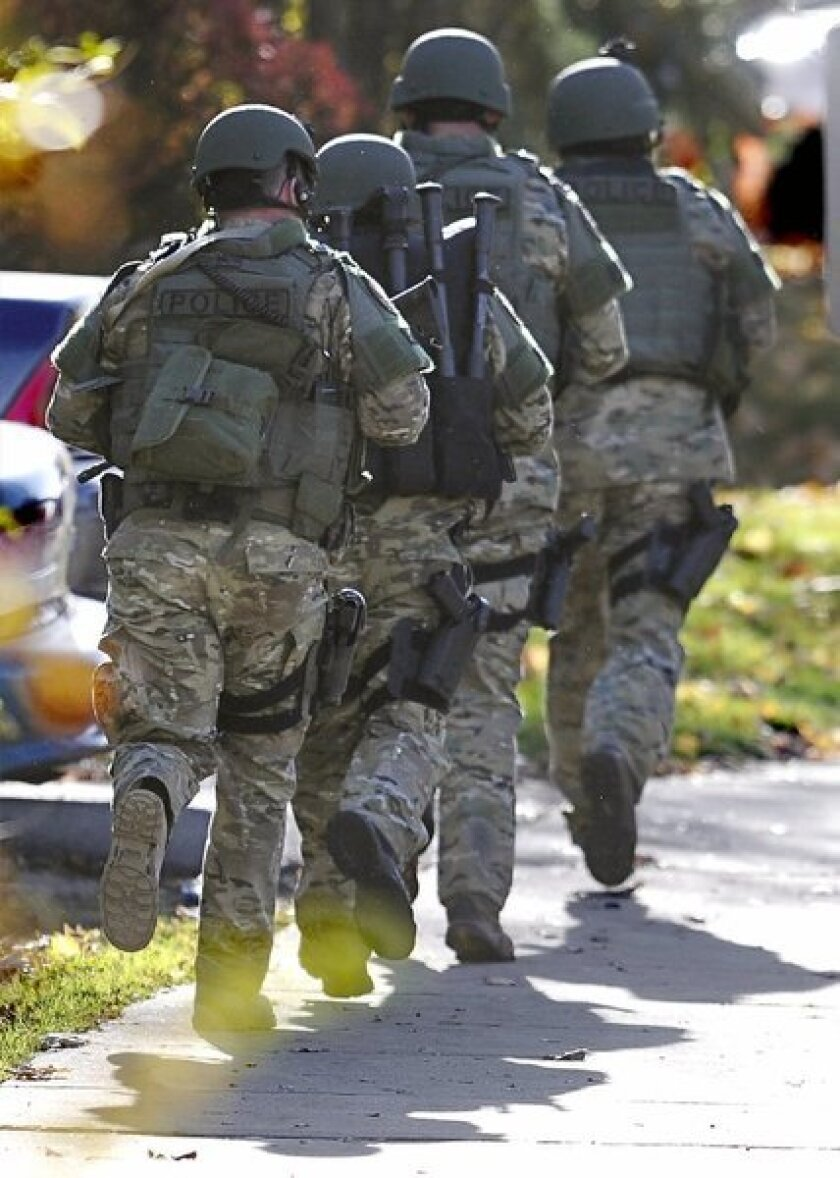 SWAT team at Central Connecticut State University
