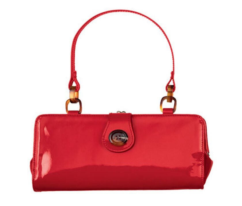 Patent leather prices usually vary depending on the quality. Target's synthetic handbag is $14.99.