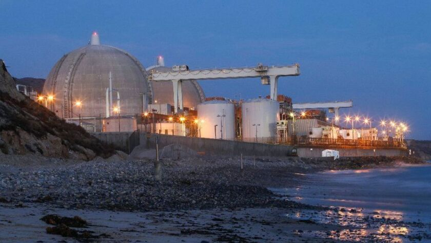 The San Onofre Nuclear Generating Station in a photo taken in August 2018.