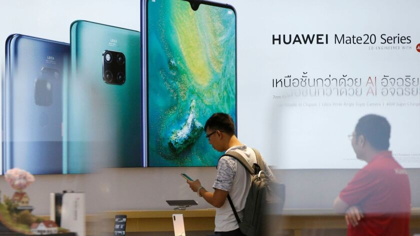 Huawei's use of Android restricted by Google, Bangkok, Thailand - 21 May 2019