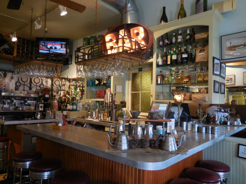 The bar area of Americana in Del Mar.