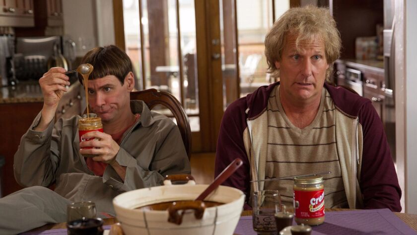 """Jim Carrey and Jeff Daniels star as Lloyd and Harry in """"Dumb and Dumber To."""" (Photo courtesy Univers"""