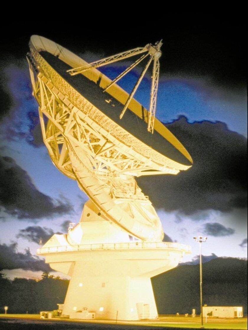 SETI Institute's Green Bank 140-foot telescope scans the sky in Green Bank, W. Va.
