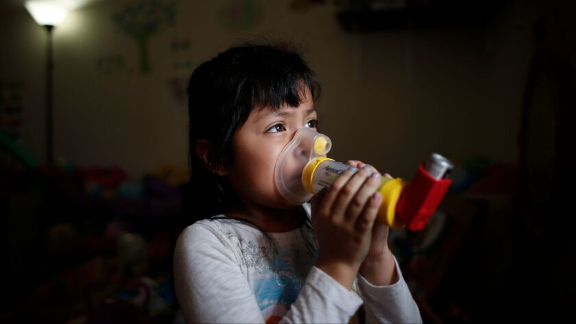 FONTANA, -- THURSDAY, MARCH 10, 2016: Alani Hernandez, 4, is so used to the variety of devices she