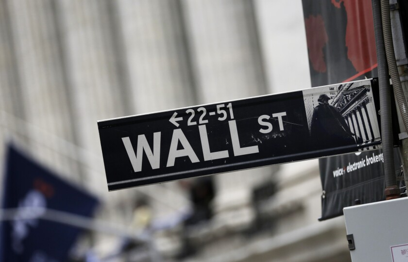 The biggest wild card for stocks recently has been trade, and markets have been swinging on every iota of progress in talks between Washington and Beijing. Above, a sign outside the New York Stock Exchange.