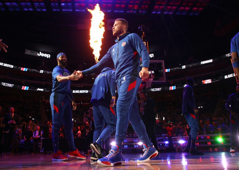 Former Clippers forward Blake Griffin has appeared in just 18 games this season because of knee injuries.