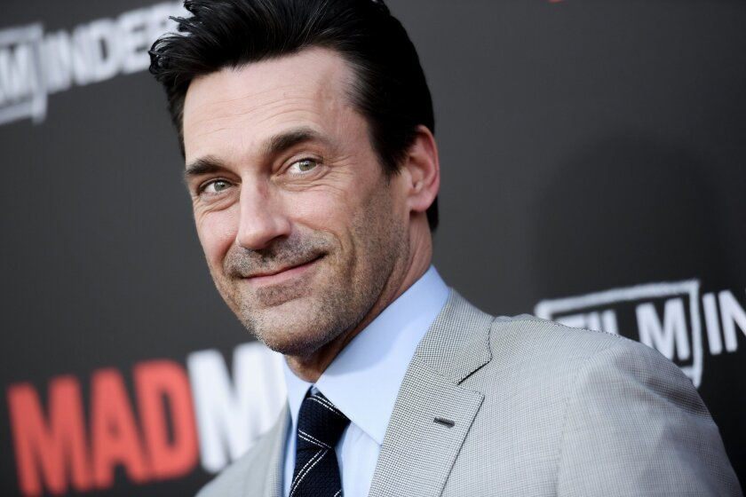 Jon Hamm hangs out after hanging up Don Draper