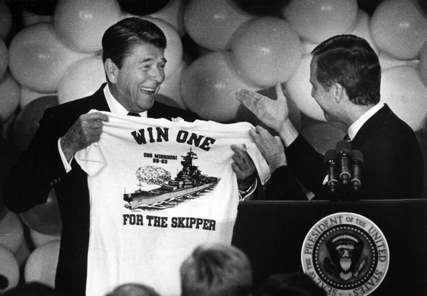 President Reagan and then-Sen. Pete Wilson