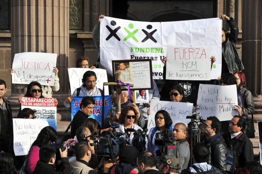 Relatives of disappeared people protest in Monterrey, Mexico, demanding more action from authorities in combating violence.