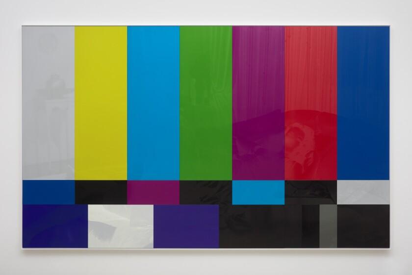 "Hank Willis Thomas' ""Sundown (Color Bar),"" 2019, photographed without a flash."
