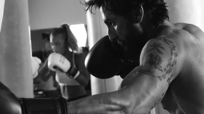 The new boutique boxing studio Crubox in West Hollywood uses heavy bags.