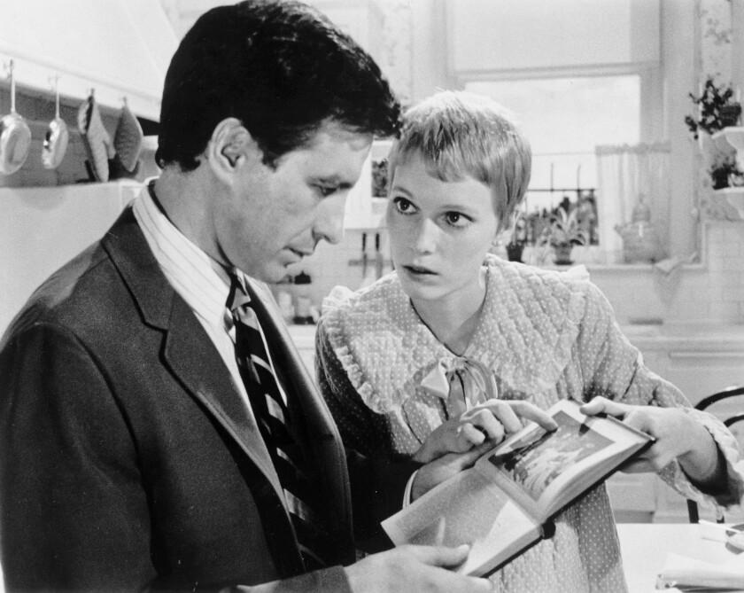 John Cassavetes and Mia Farrow in Rosemary's Baby (1968).