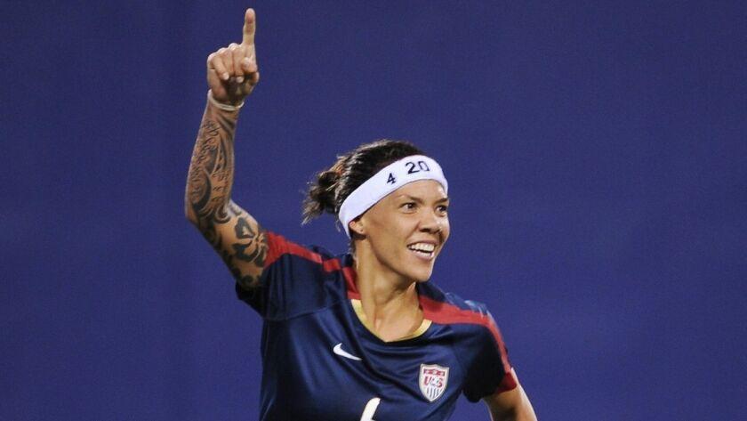 Natasha Kai, 35, scored 24 goals and assisted on 13 with the U.S. national team.