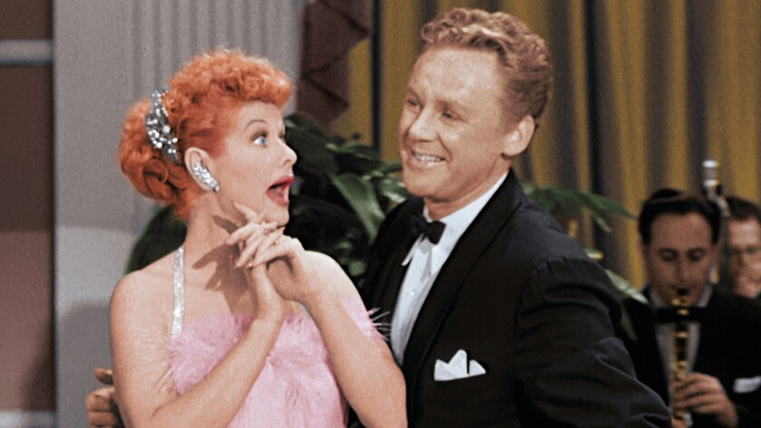 """Lucille Ball and Van Johnson in """"The New I Love Lucy Superstar Special,"""" airing on CBS."""