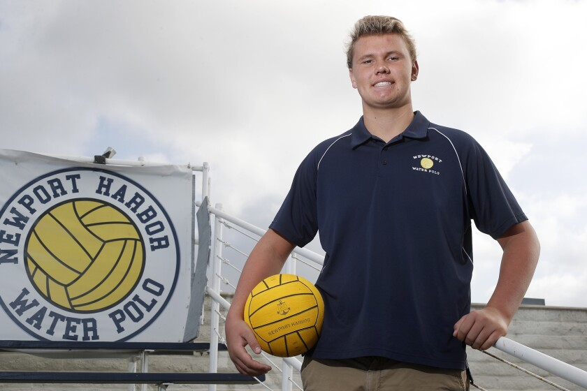 High School Male Athlete of the Week: Eli Liechty quickly emerging for Newport Harbor water polo