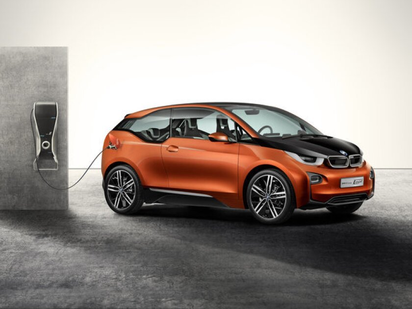 BMW released concept designs for its all-electric i3 last year. The car will make its official debut later this month.