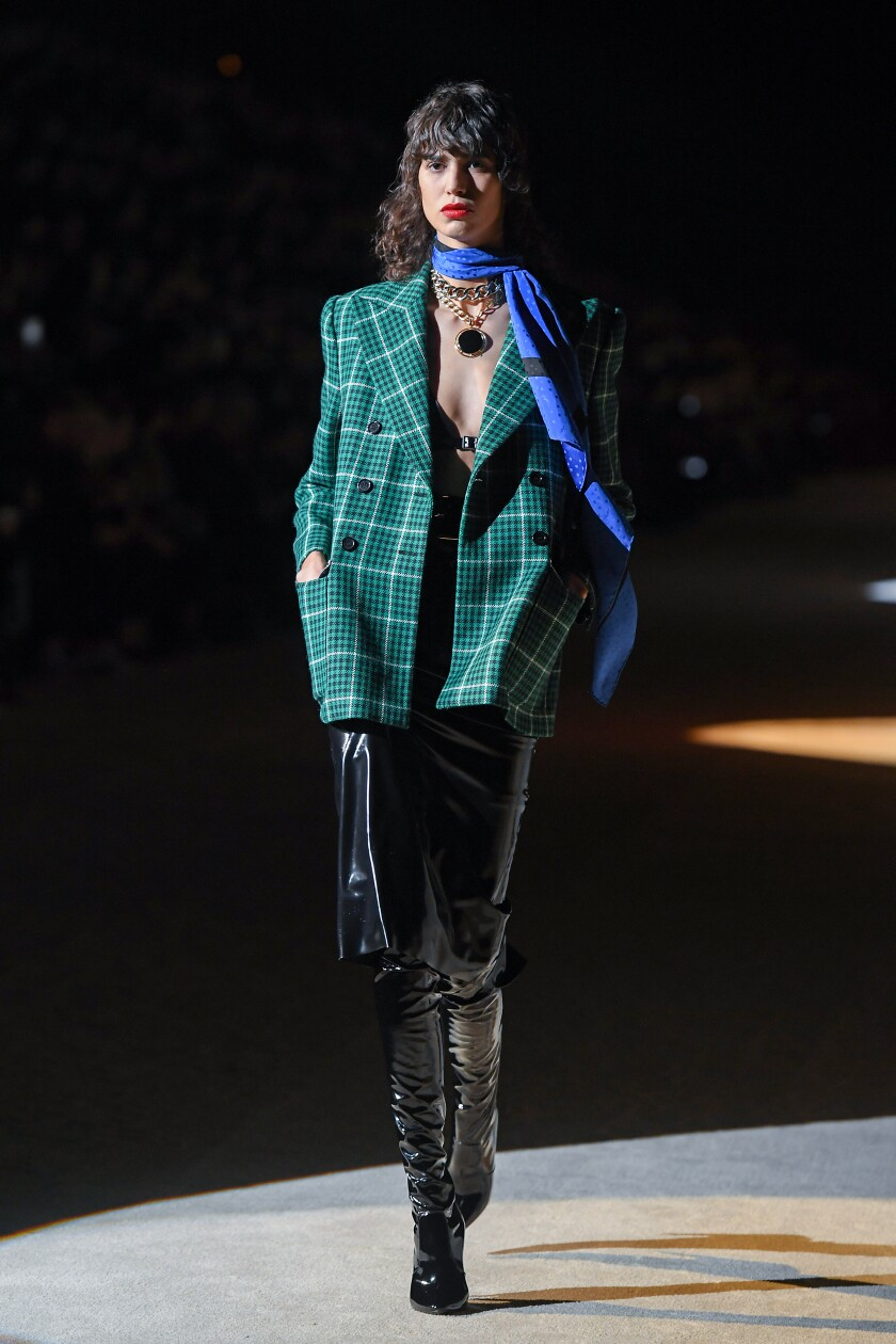 Saint Laurent at fall/winter 2020 Paris Fashion Week runway