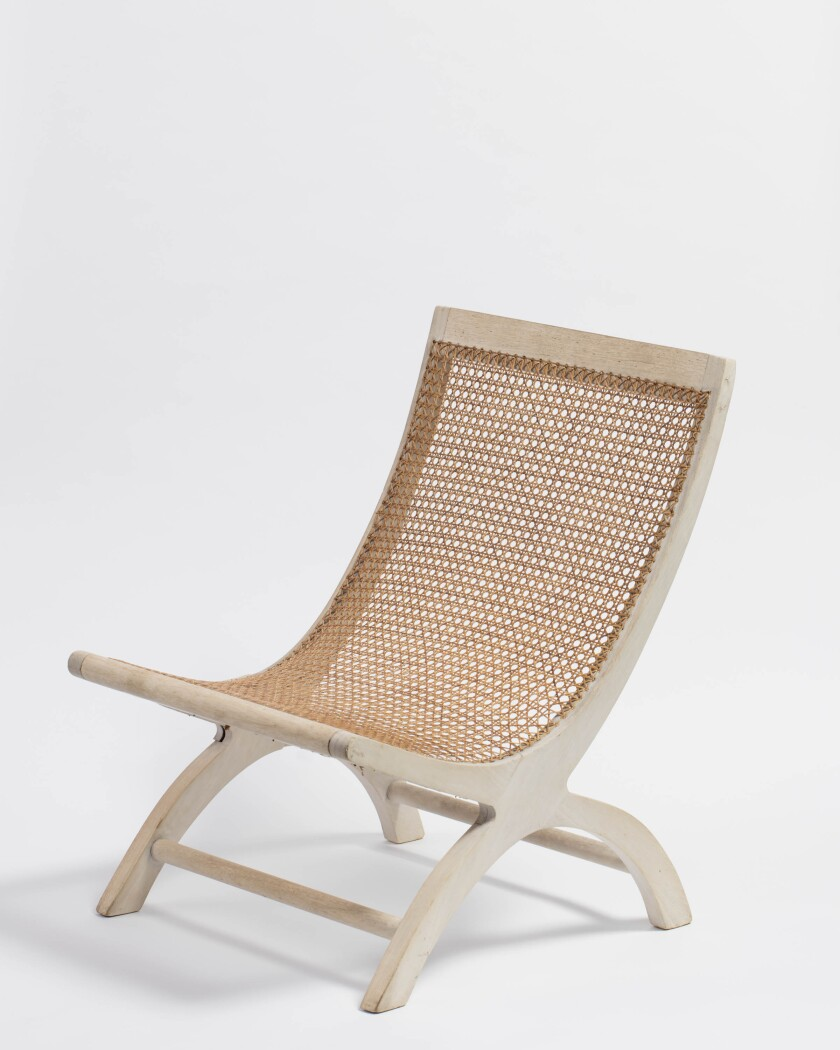 A butaque chair by Mexican designer Clara Porset, from about 1955-56.