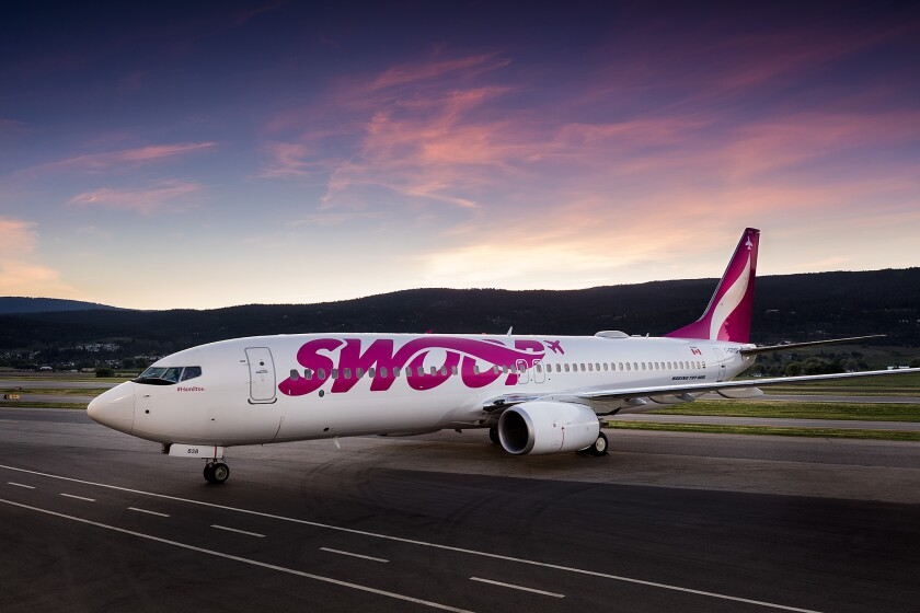 The Canadian low-fare airline, Swoop, will soon be flying between San Diego and Edmonton, Canada.