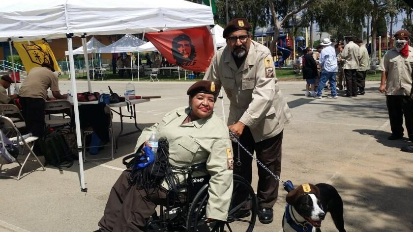 Brown Berets Eddie Calleros and his wife, Stella Calleros
