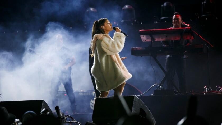 Ariana Grande performs last week at KIIS-FM's Wango Tango concert.