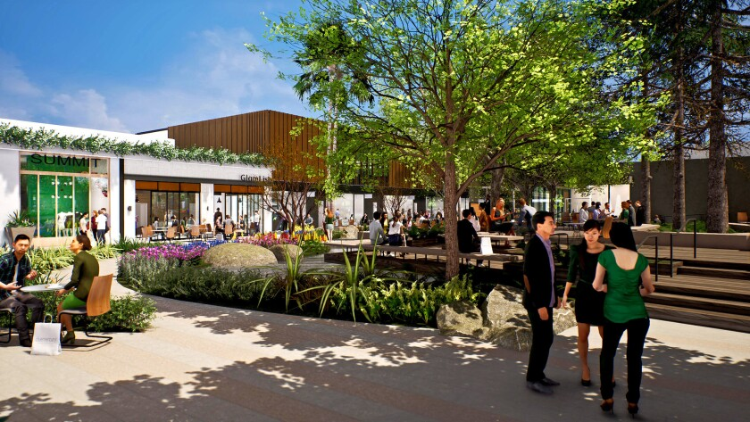 Architect's rendering of the Shops at Sportsmen's Lodge