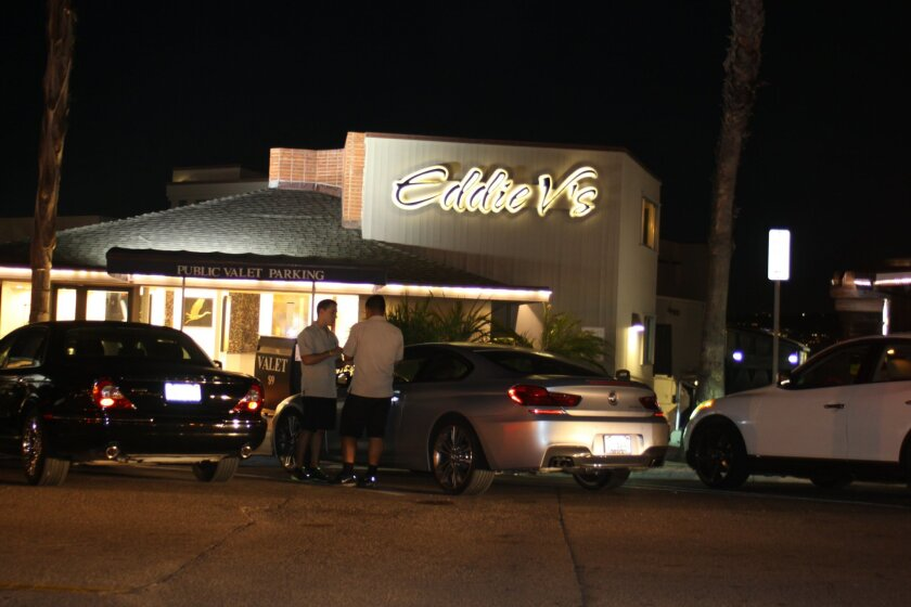 Eddie V's restaurant on Prospect Street offers public valet parking (patrons to any La Jolla business may use it) 6-11 p.m. during the week.