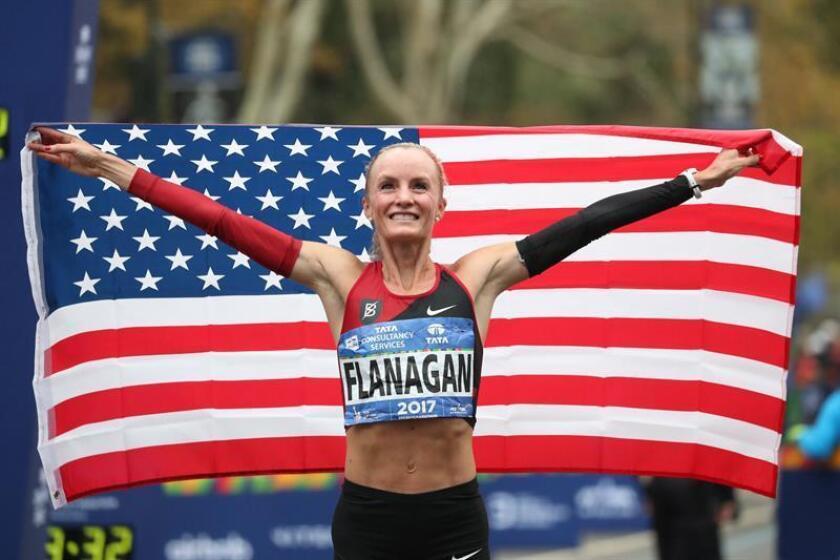 En la imagen, la atleta estadounidense Shalane Flanagan. EFE/Archivo