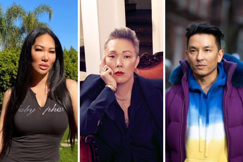 La diseñadora Kimora Lee Simmons, a la izquierda, la estilista Jeanne Yang y el diseñador Prabal Gurung hablan sobre la afluencia de racismo hacia los asiáticos y asiático-estadounidenses durante la era del coronavirus.
