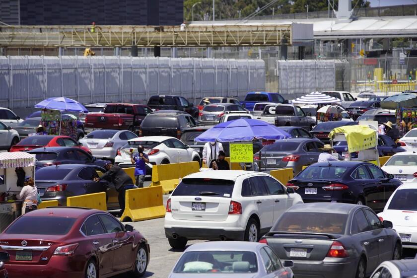 Traffic at San Ysidro Border.