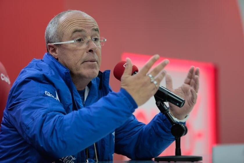 En la imagen, el director técnico de la selección sub20 de fútbol de Ecuador, Jorge Célico. EFE/Archivo