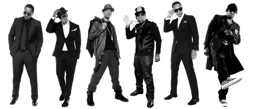 The original New Edition members, from left: Johnny Gill, Ricky Bell, Ralph Tresvant, Michael Bivins, Ronnie DeVoe and Bobby Brown.