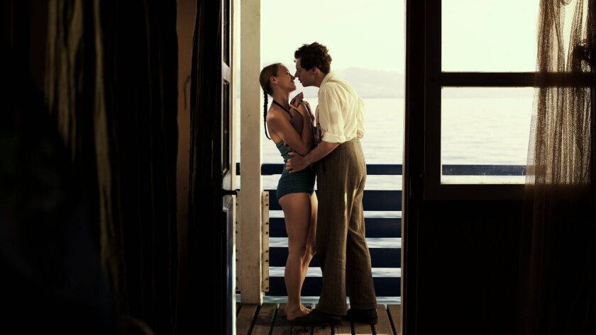 """Anna Unterberg and Christian Friedel in the film """"13 Minutes."""""""