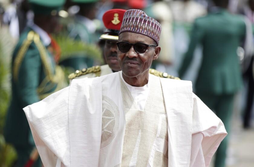 Nigerian President Muhammadu Buhari has sworn to defeat Boko Haram. Above, Buhari arrives in Abuja, Nigeria, for his inauguration in May.
