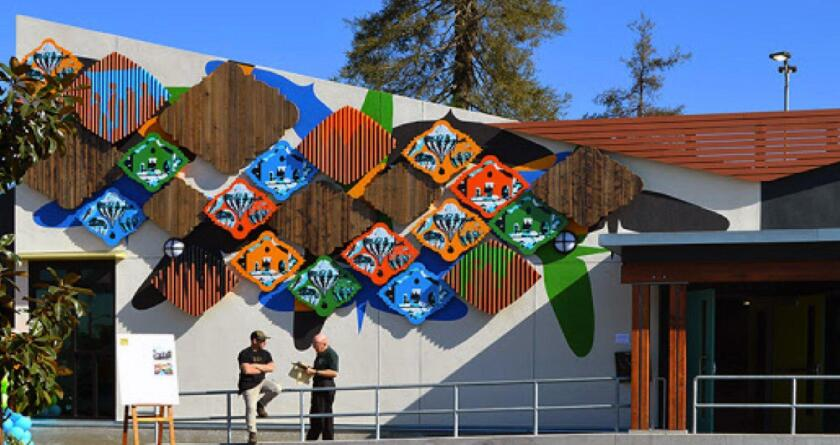 New Mexico artist Fausto Fernandez was chosen by the Burbank-Glendale-Pasadena Airport Authority to design the artwork being placed on the RITC building at Hollywood Burbank Airport.
