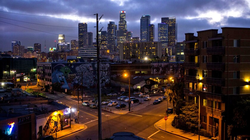 The downtown L.A, artist district, site of a development boom