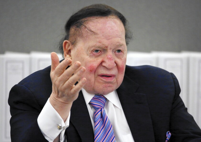 Reporters at the Las Vegas Review-Journal now seem less willing to be openly critical of casino mogul Sheldon Adelson than they were in December, when it was revealed that his News + Media Capital Group had bought the newspaper.