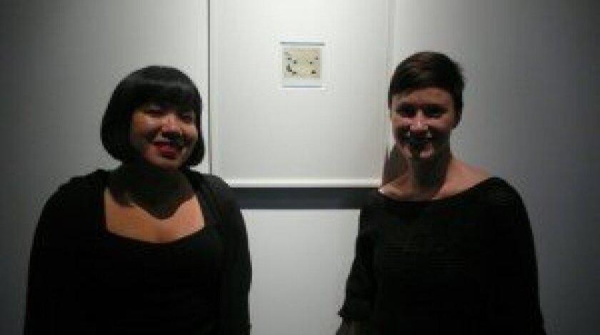 Melinda Guillen and elizabeth Miller, curators of 'Subterranea' at SME Gallery