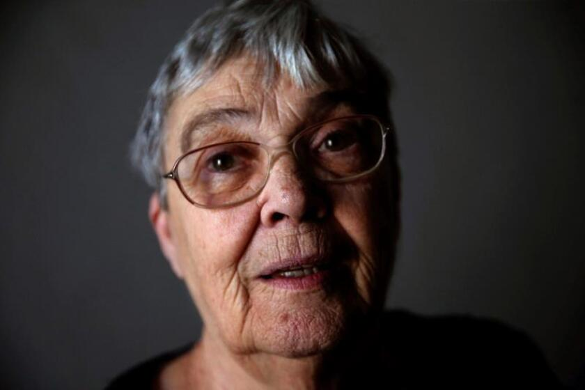 Photo of 73-year-old Crimeia de Almeida, who during an interview with EFE on Aug. 6, 2019, recalls her first encounter in 1972 with Col. Carlos Alberto Brilhante Ustra, torturer of the military dictatorship, who insulted her, beat her and left her unconscious. EFE-EPA/Fernando Bizerra